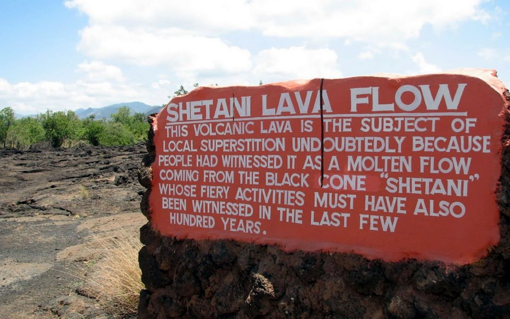 Located about 4 KM west of the Chyulu Gate, the Shetani Lava Flows in Tsavo West National Park are a sight to behold.