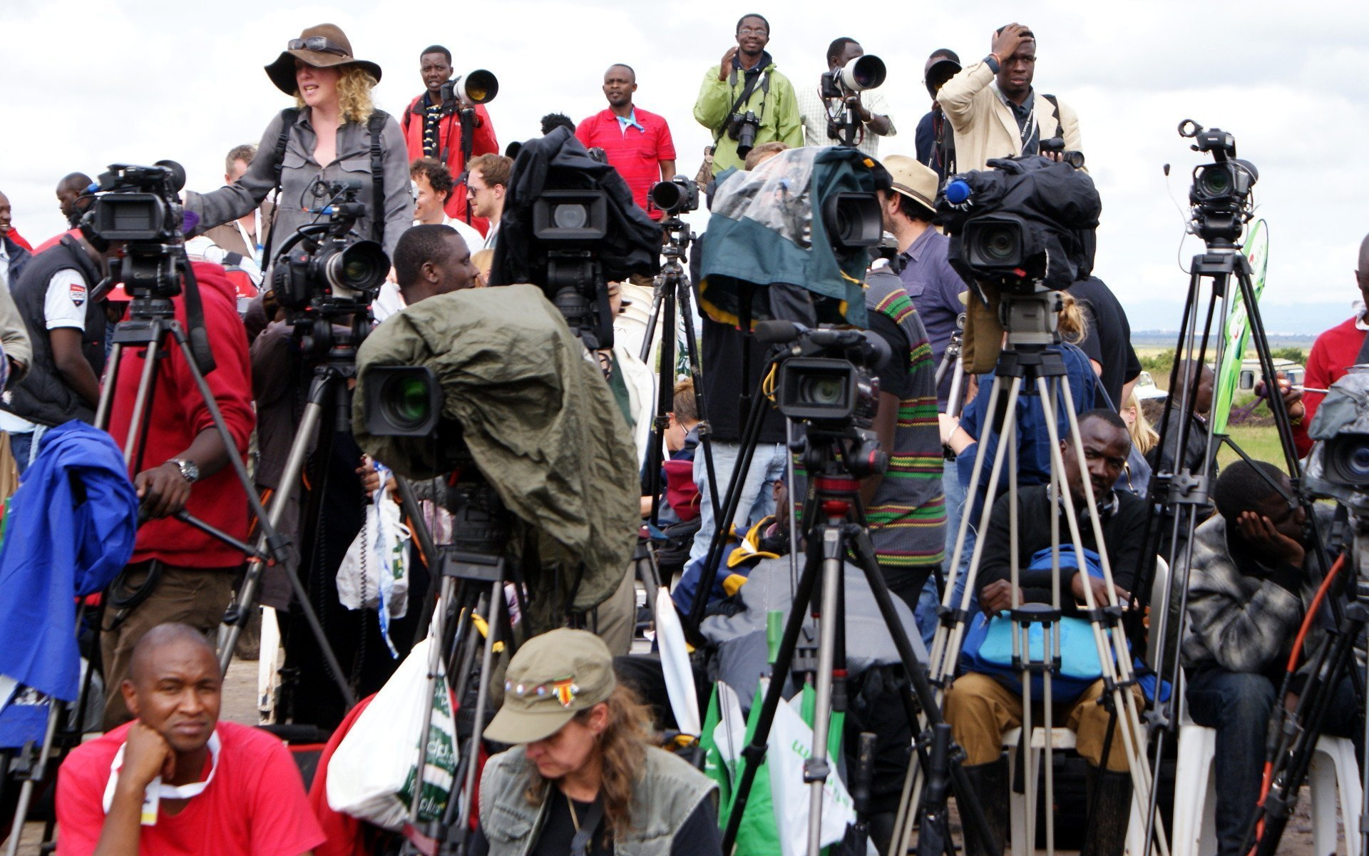 Local and International media was there to cover the historic event.