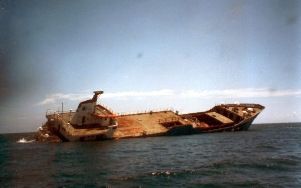 Mv Dania Sinks in Style after 40 Years of Service