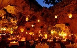 Ali Barbour's Cave Restaurant is not your average restaurant. First they are only open for dinner, second the restaurant is inside a cave.