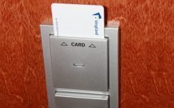 The electronic key card, relies on a magnetic strip to validate a customer's access to their purchased room. Its frequent demagnetisation may be a problem because it becomes a bother to room access.