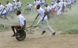Journey to Hell's Gate on a wheelbarrow