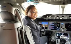 Captain Irene Koki Mutungi, a Kenyan lady pilot, today made history by becoming Africa's first black female Boeing 787 Dreamliner certified Captain as she delivered KQs 4th aircraft.