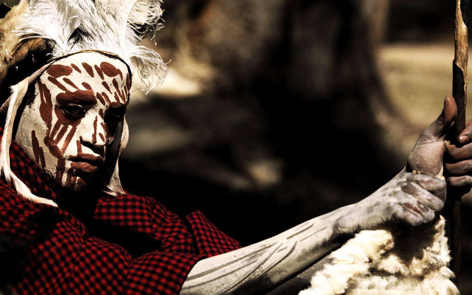A Kikuyu warrior.