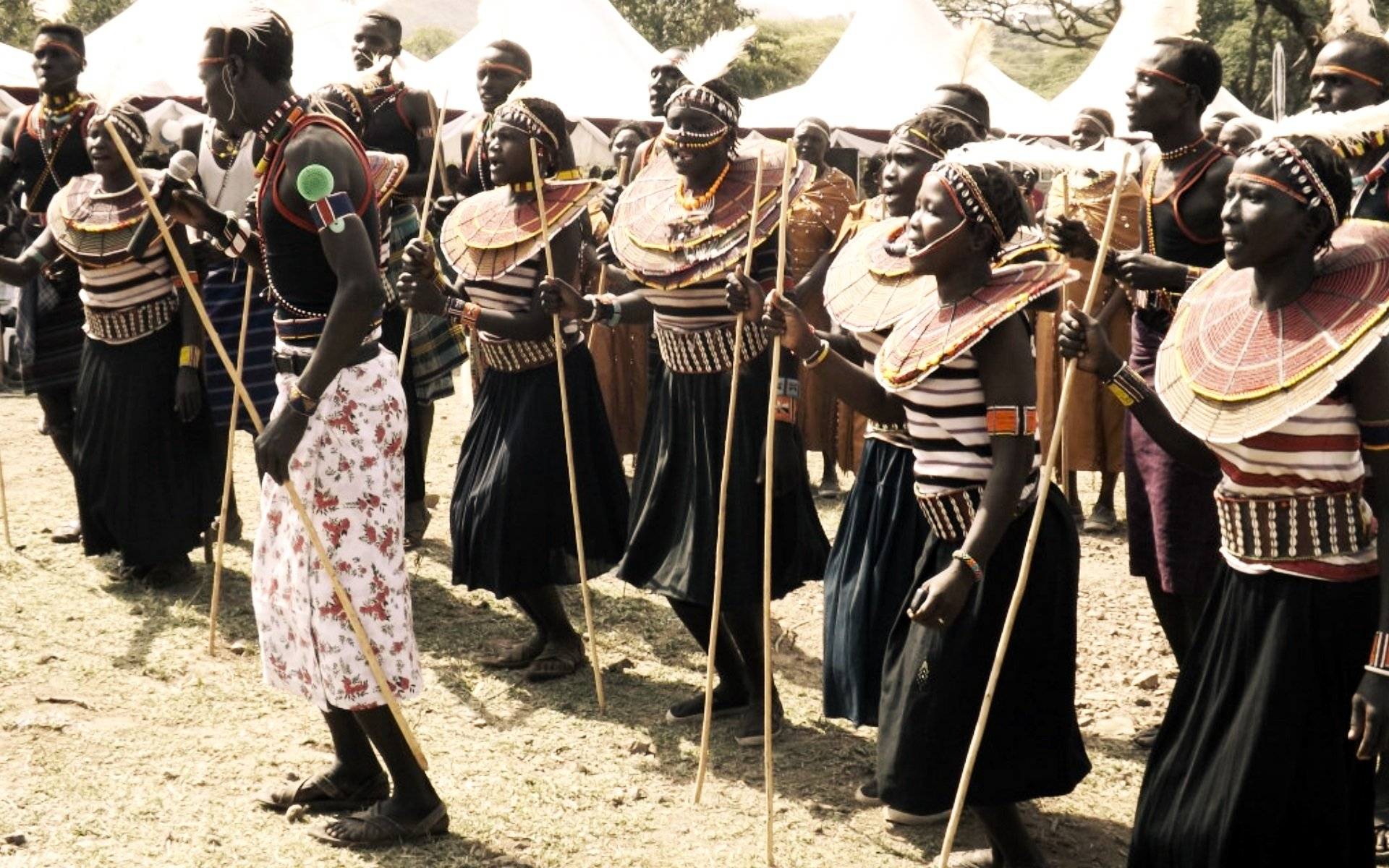 Pokot dancers at the 2014 Marsabit Lake Turkana Cultural Festival