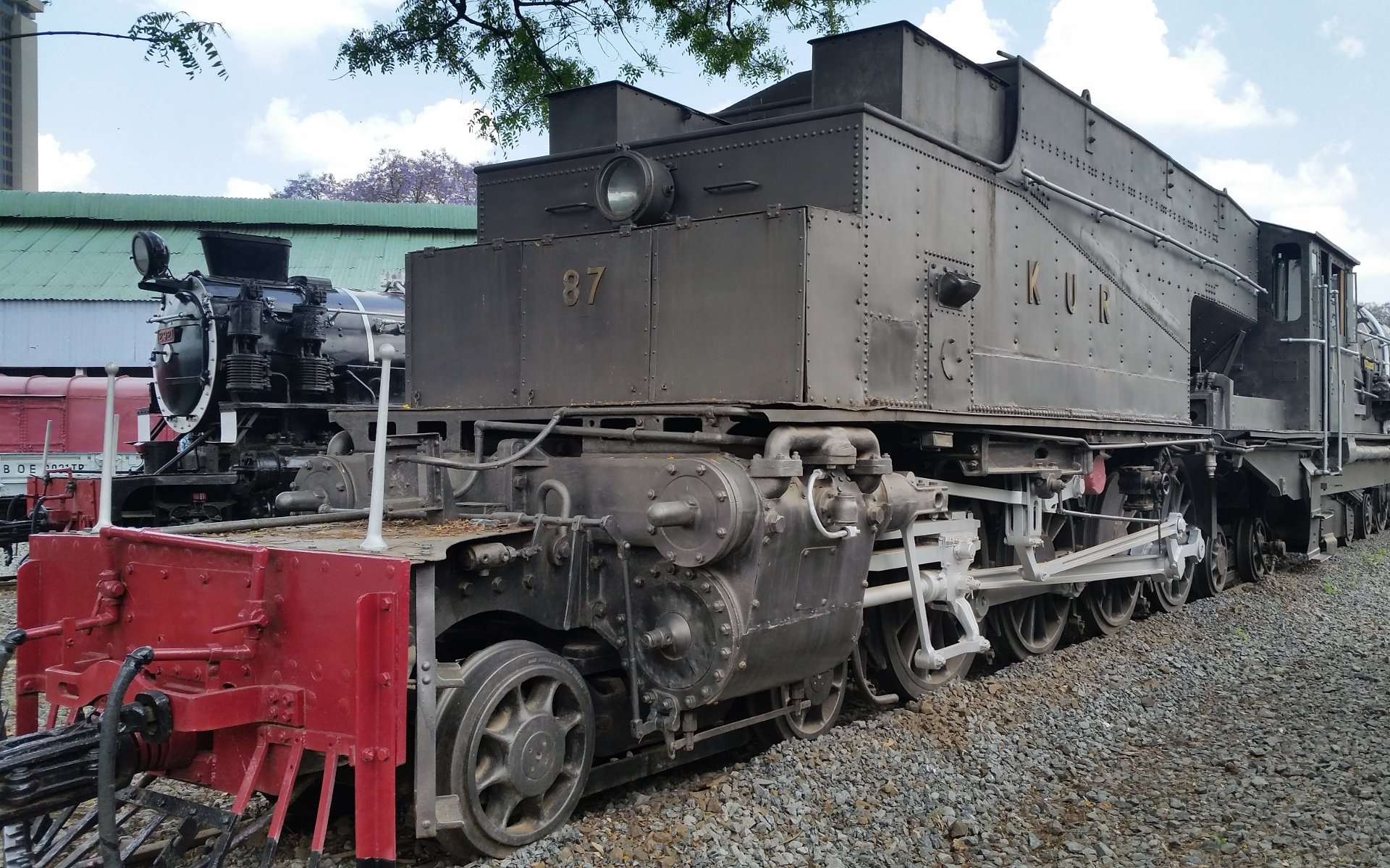 This 87 Garratt called Karamoja was built in Manchester. It was the most powerful type of train until the mid 1950s.