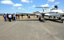 Last Saturday the first ever passenger plane landed at the Nyaribo Airstrip in Nyeri from Nairobi. The passenger flight will become a regular daily feature.