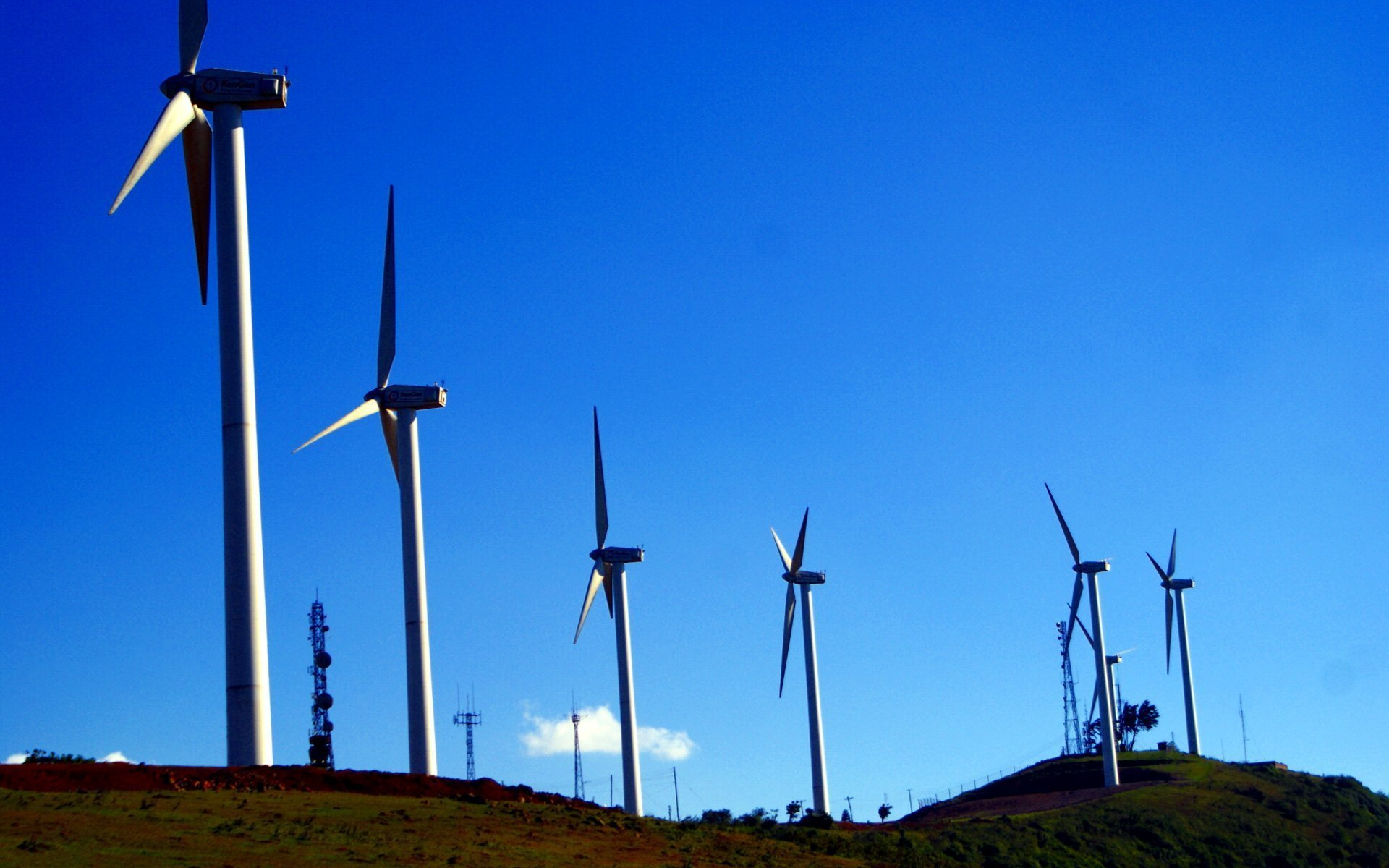 A section of the wind farm at Ngong Hills owned by KenGen.