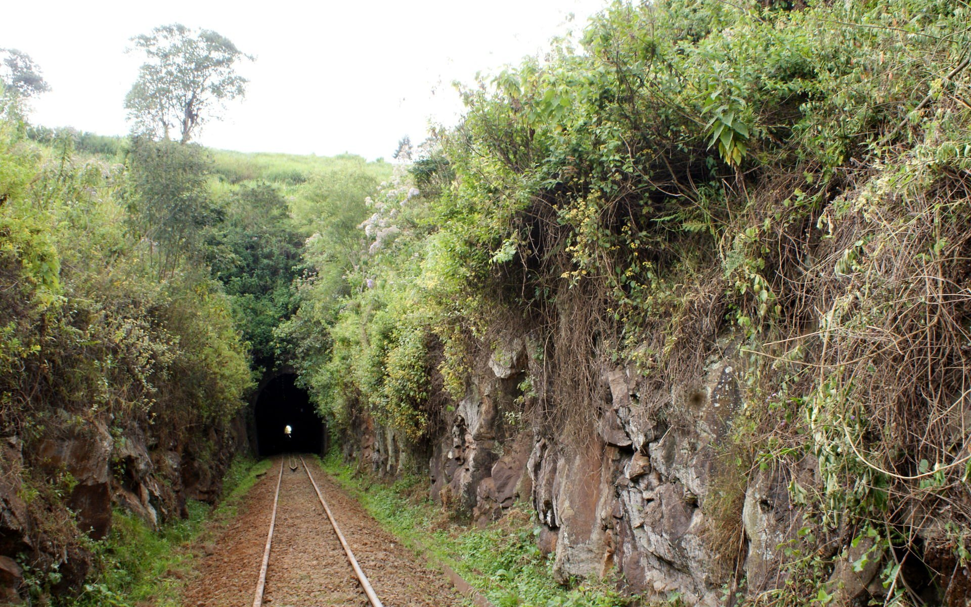 A close-up of the Buxton Tunnel in Limuru which is the longest train tunnel in Kenya.