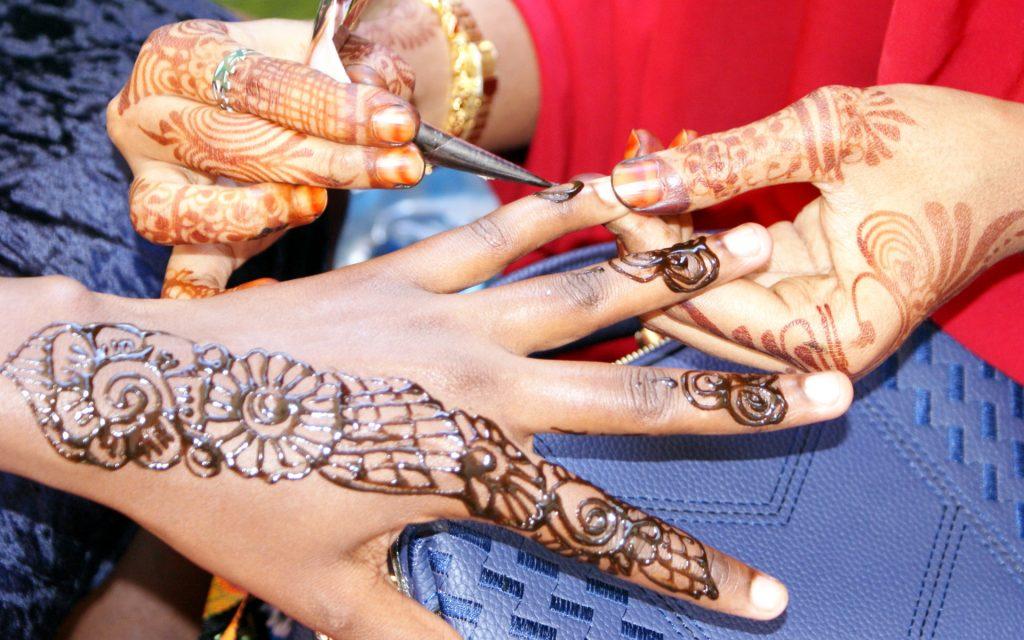 Henna art application at the 7th Nairobi International Cultural Festival