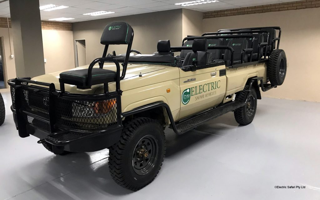 An electric safari cruiser or rover can perform comparably well to a normal car with far less carbon emission, zero noise pollution and significantly lower maintenance cost.