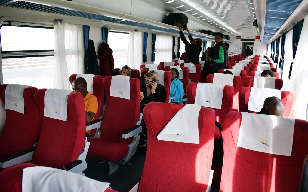 The first-class is the luxury end of your SGR trip, and it is spacious. Seats here can be turned around to form a quad of four if you are in an all-chatty group.