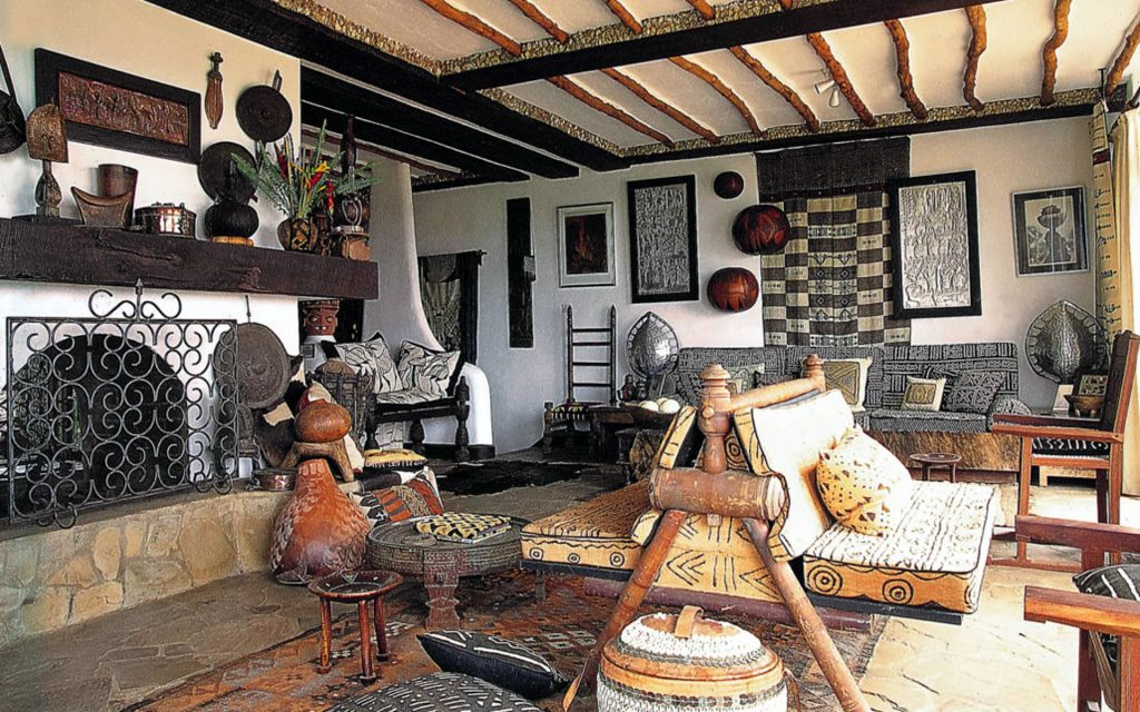 The interior of the African Heritage House is as charming as its exterior.