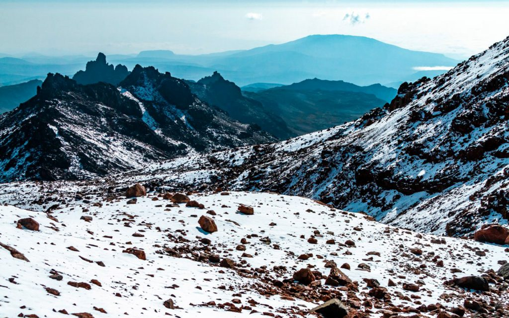 Mount Kenya is one of Kenya's sacred mountains. The mountain boasts beautiful ice caps, bountiful wildlife and it is the source of two of Kenya's largest rivers - Tana and Ewaso Nyiro.