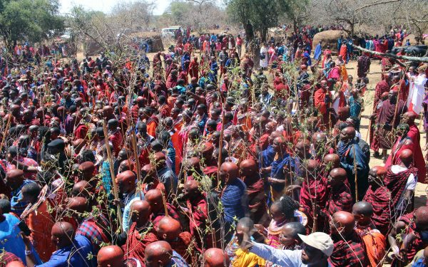 In Maparasha Hills in Kajiado, a rare ceremony that only takes place once in 10 years, happened. It is the Olng'esherr passage ceremony.