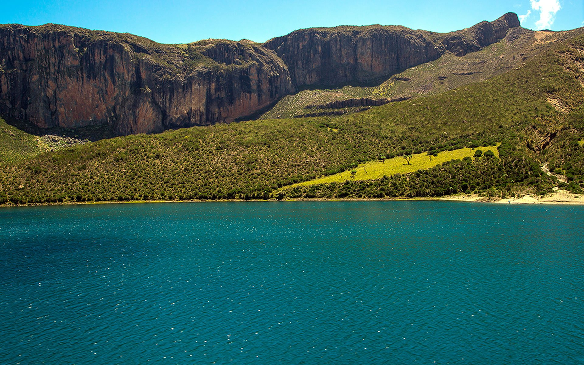 Lake Alice is the largest of Mount Kenya's great lakes. The others are Lake Michaelson, Lake Ellis and Lake Rutundu.