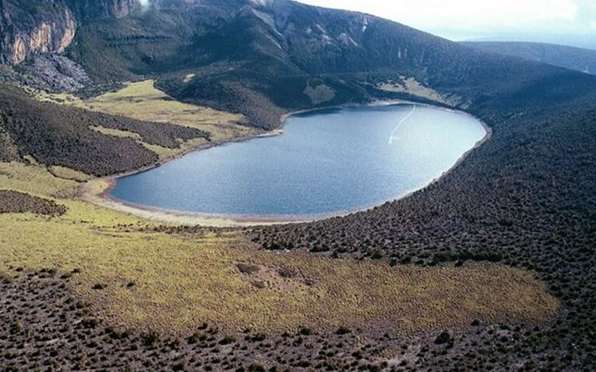 Lake Rutundu sits about 3,100 M (10,000 FT) above Mount Kenya's forest in Mount Kenya National Park. The lake is a residence for rare birdlife and vegetation.