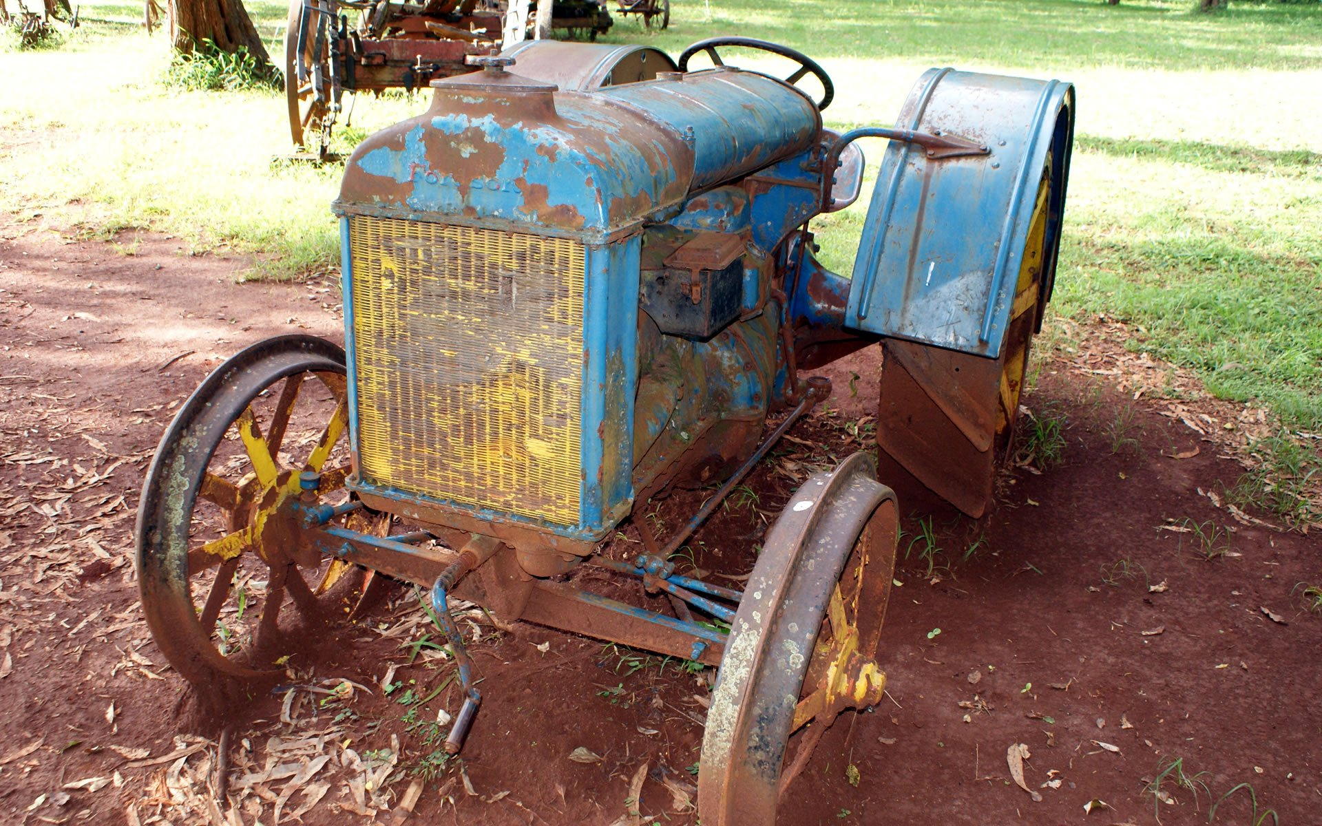 Within the nicely manicured compound at the Karen Blixen Museum sits a 1922 Fordson tractor.