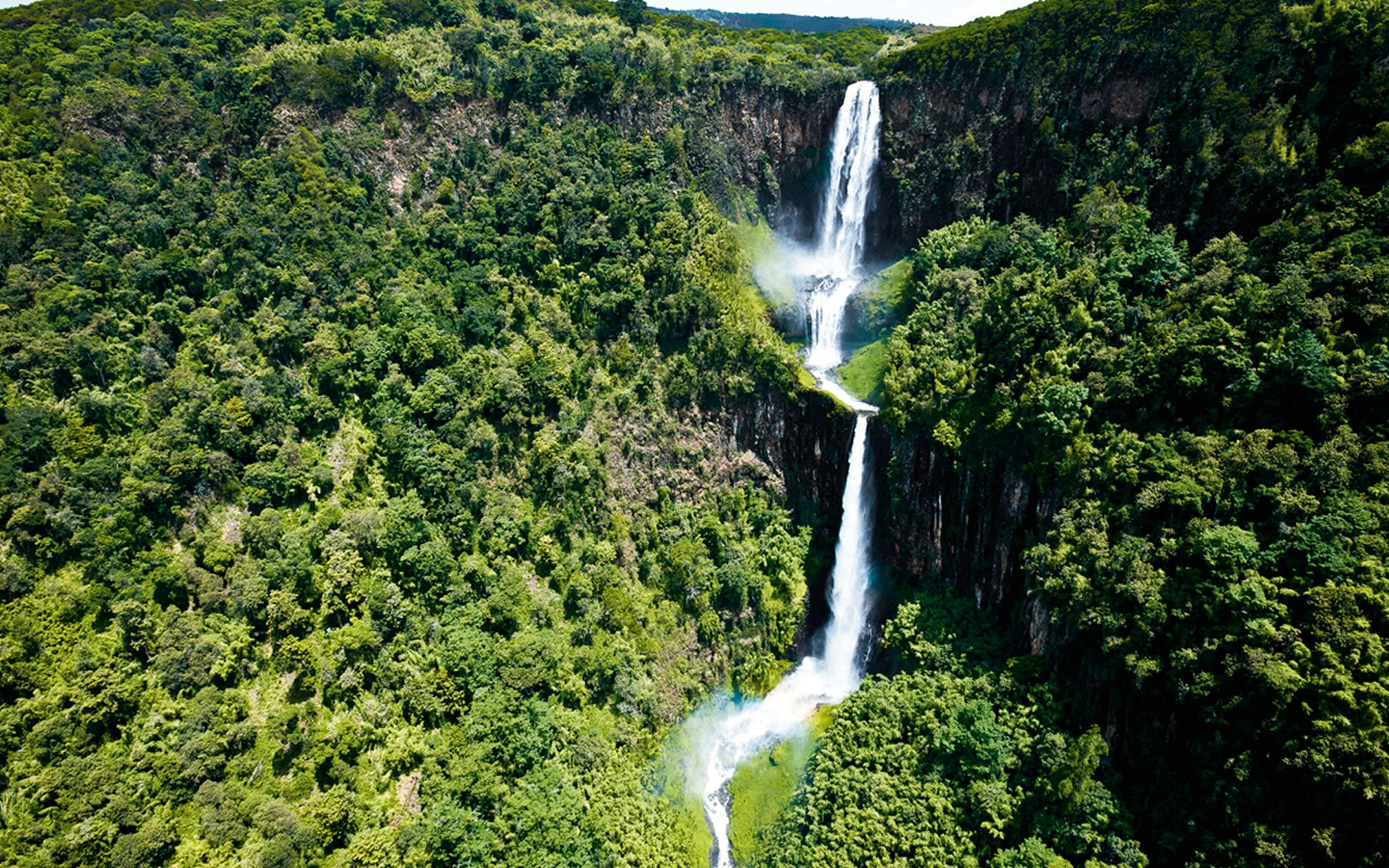 Karuru Falls in the Aberdare National Park is second tallest waterfall in Kenya. The tallest is Gura.